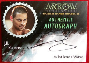 ARROW-Season-3-J-R-RAMIREZ-as-Ted-Wildcat-Cryptozoic-Autograph-Card-JRR