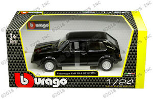 VW-VOLKSWAGEN-GOLF-MKI-1-24-escala-Diecast-Modelo-Die-Cast-Modelos-Negro