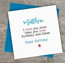 Item 1 Personalised Handmade Funny Birthday Card Boyfriend Fiance Husband