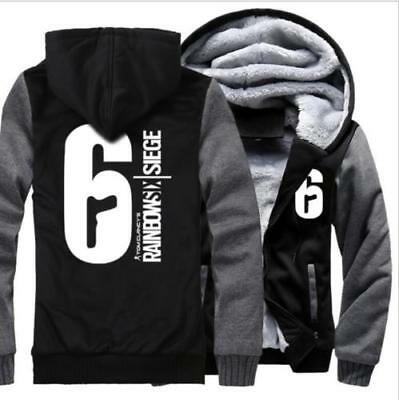 RAINBOW SIX SIEGE Cosplay Men/'s LUMINOUS Hoodies Thicken Coat Winter Jacket Hot
