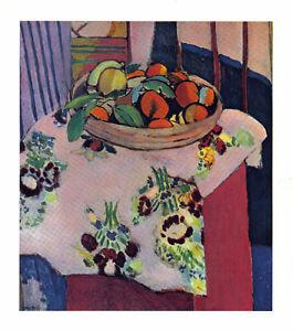 HENRI-MATISSE-1939-LITHOGRAPH-w-COA-Naranja-Oranges-Classic-Print-VERY-RARE-ART