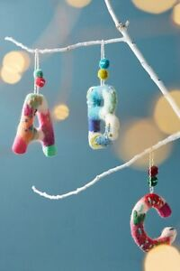 Image Is Loading New Anthropologie Felted Wool Monogram B Christmas Ornament
