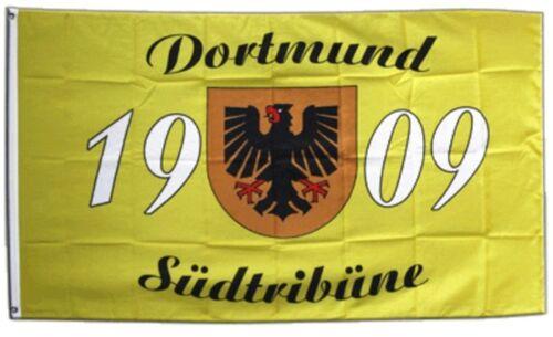 Bandiera fanflagge Dortmund 1909 südtribüne BANDIERA CALCIO hissflagge 90x150cm