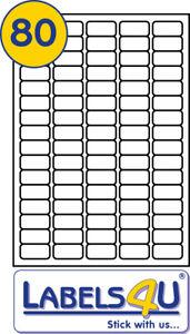 10 sheets 80 labels per sheet 35 6 x 16 9mm ms compatiblel4732