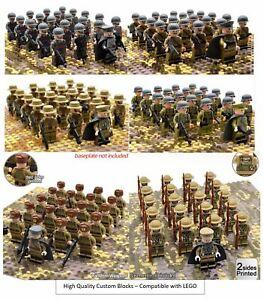 21pcs-WWII-Mini-Figures-Army-CUSTOM-LEGO-British-Russian-Soldiers-Troops-UK-WW2