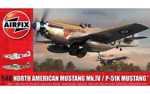 AIRFIX-1-48-NORTH-AMERICAN-MUSTANG-MK-IV-P-51K-WW2-MODEL-AIRCRAFT-KIT-A05137