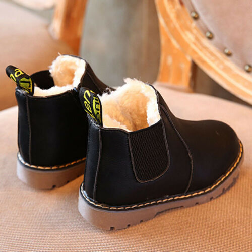Winter Children Kids Martin Boots Snow Baby Shoes Toddler Boy Girl Chelsea Shoes