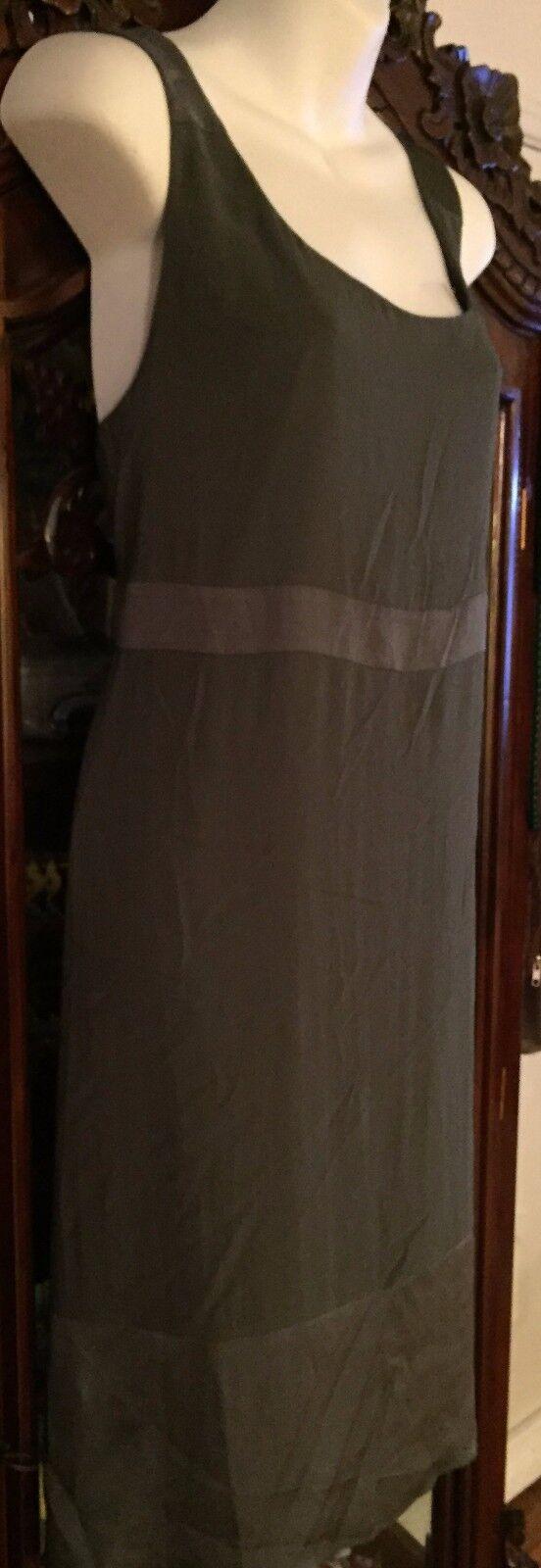 NEW DKNY Two Tone Fatigue Green Sleeveless Dress Sz. L