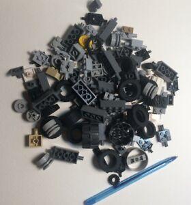 Rims Fenders Axle NEW 100+ Pieces Lego  Car Part Lot Wheels Base Tires