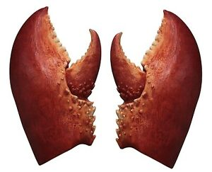 Detailed Lobster Claws Prop Cosplay Costume Halloween Party Horror Latex Gloves