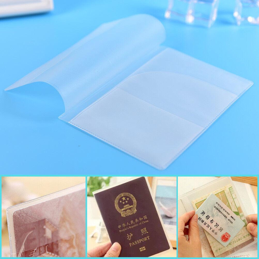 2x transparent porte-passeport pochette porte-carte sac de voyage SW_wf