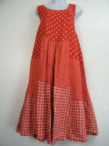 Plus Größe 100/% Leinen Gepunktet//Gestreift//Kariert Design Lagenlook Kleid Größe