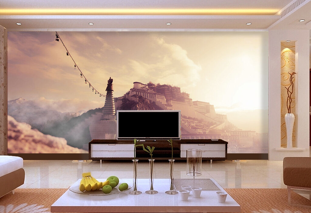 3D Potala Palace 085 WallPaper Murals Wall Print Decal Wall Deco AJ WALLPAPER