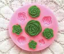 Roses Silicone Mold - 8 cavities Rose Flower Fondant Mould - Chocolate Clay DIY