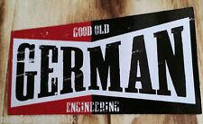 "Oldschool Sticker "" German Engineering  ""  Aufkleber Ratstyle Youngtimer Ratte"