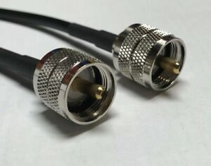 3 ft RG-58 Jumper UHF  HAM CB VHF UHF RG RF Radio PL-259 Coax Cable MADE IN USA