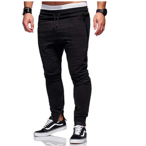 Mens Sport Pants Long Trousers Casual Tracksuit Bottoms Joggers Gym Sweatpants
