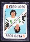 1971  JOE NAMATH - Topps Game Insert Football Card- # 3 - New York Jets
