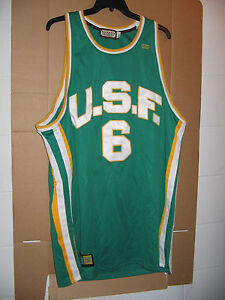 2ed038d6bdc735 Image is loading Russell-Jersey-Hardwood-Legend-U-S-F-6-Headmaster-Green-