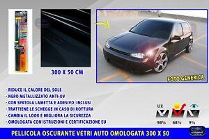 Pellicola Oscurante Per Vetri Auto Tuning Omologata Adesivo Nero 3m