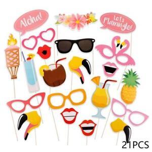 21-pcs-Photo-Booth-Props-Kit-Bricolage-Hawaii-Summer-Beach-Party-Luau-THEME