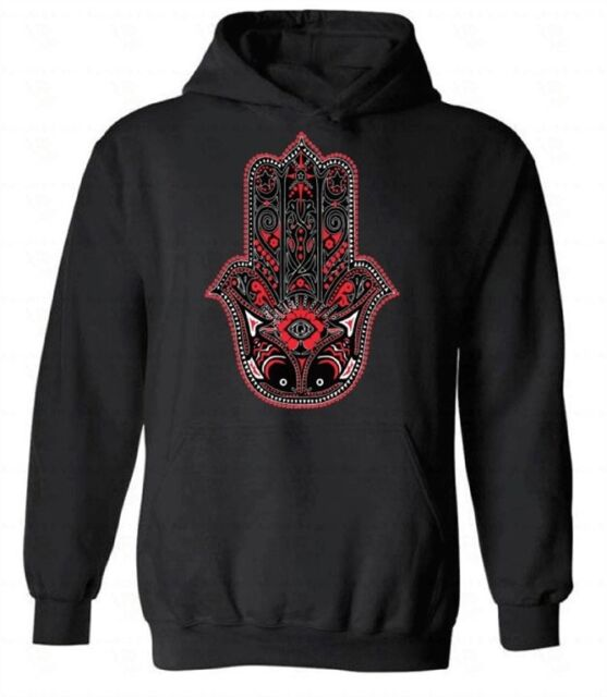 Hoodies Sweatshirt/Men 3D Print Hamsa,Divinity Protection Sign,Sweatshirts for Teens