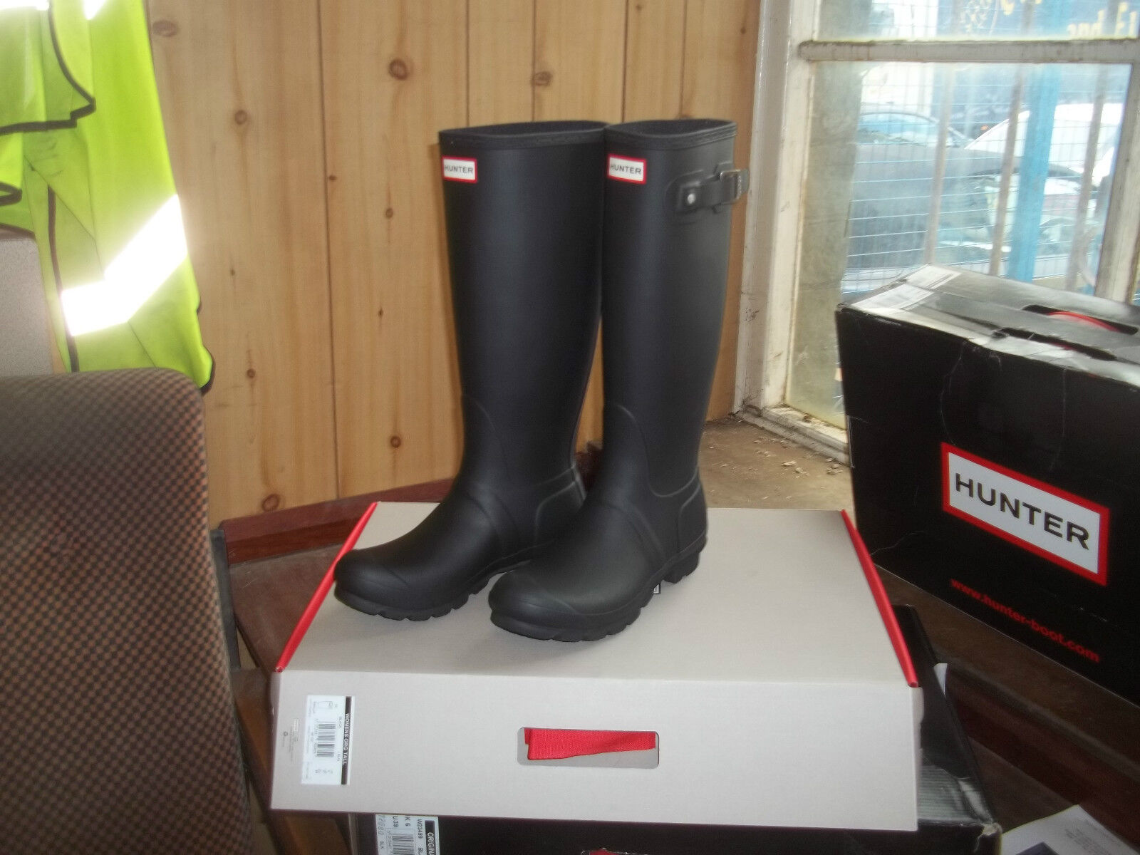 HUNTER WELLINGTONS IN HALIFAX & BRADFORD  BLACK ORIGINAL Damenschuhe  TALL SIZE 6