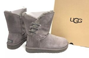c197db88a73 Details about Ugg Australia Constantine Charcoal Lace Trim Shearling  Sheepskin Boot 1018629 9