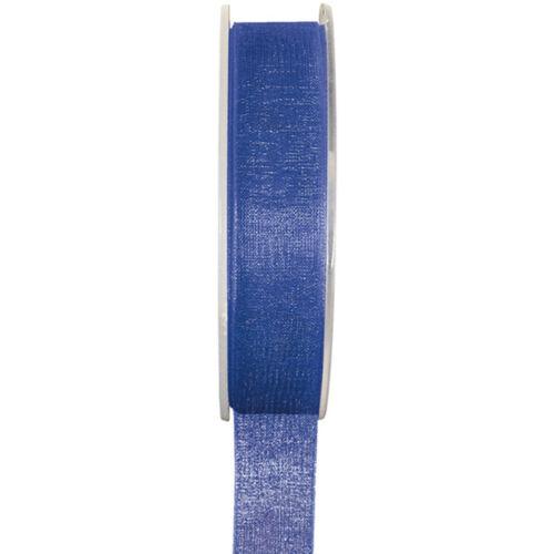Organzaband 25mmx20m blau Schleifenband Hochzeit Chiffonband Geschenkband