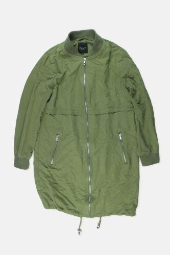 Womens New Look Khaki Green Longline Bomber Jacket Size 8 Petite