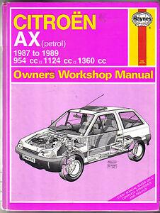 citroen ax petrol 1987 1989 haynes owners workshop manual ebay rh ebay ie Citroen Hatchback Citroen CX
