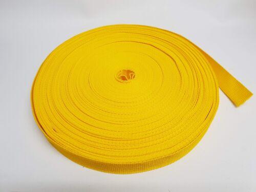 aprox 1mm correa de transporte bolsillo Cinturón Banda cinturón amarillo mango 25mm ancha de poliéster PES