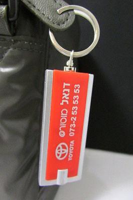 Plaketten Schneidig Neu Rot Silber Metall Schlüsselanhänger Toyota Anhänger Blitzlicht Middle East Exzellente QualitäT Auto & Motorrad: Teile