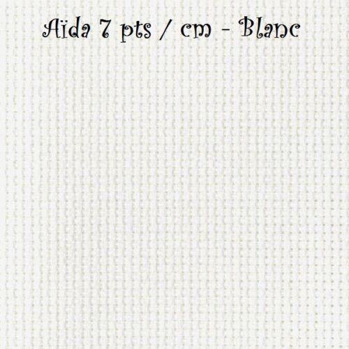 AÏDA 7 pts//cm BLANC COUPON TOILE à BRODER Plusieurs choix de taille