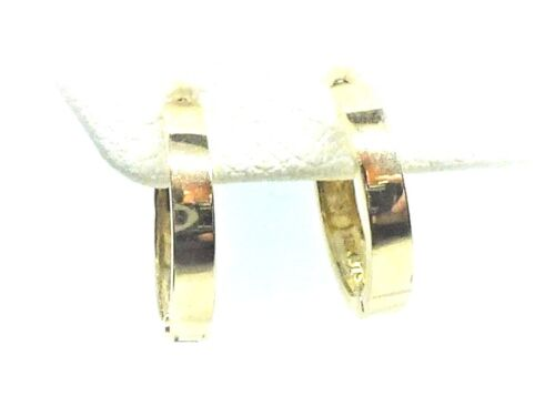 10Kt Pure Solid Gold 13MM Huggie Earrings....Gift Box .....Stamped /& Guaranteed!