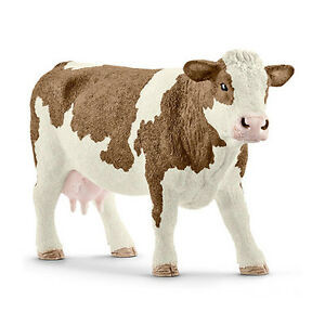 Schleich 13801 Simmental Cow Model Farm Animal Toy Figurine 2016 - NIP