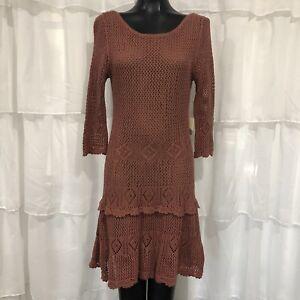 Gran Nuevo Sin Etiquetas Nuevo Vestido Tejido Crochet