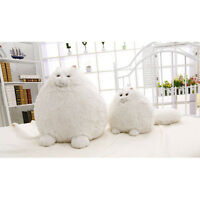 30cm White Big Tail Fun Plush Fluffy Cats Persian Cat Baby Kids Toys Gifts Us