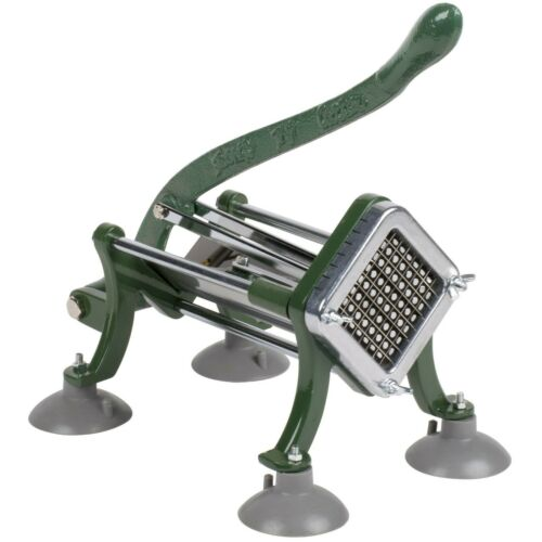 """3//8/"""" Green French Fry Cutter Potato Slicer Dicer Commercial w// Suction Feet"""
