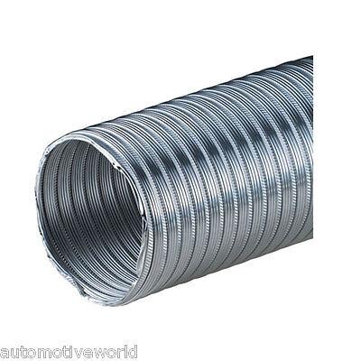 "Aluminium Flexible Pipe 4"" / 100mm - 1.25m Alloy Air Ducting Tube Hose Flexipipe"