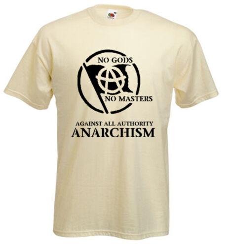 ANARCHIST SLOGAN T-SHIRT Punk Anarchy Anarchism Class War Colour Choice