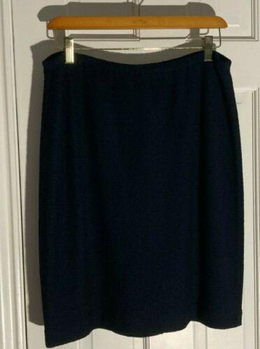 St John Textured Black Santana Knit Skirt,  Size 1