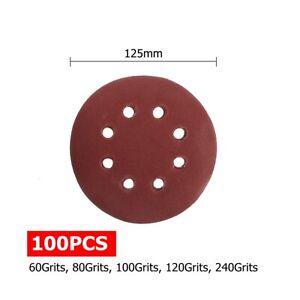 100pcs-125mm-5-039-039-Sanding-Sandpaper-Discs-60-240-Mix-Grit-8-Holes-Orbital-Sander