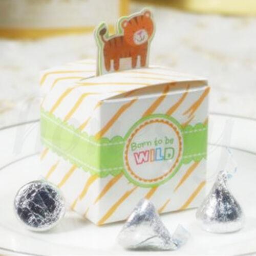 20//50X Cartoon Animal Baby Shower Favors Cadeau Anniversaire Enfants Noël Fête Candy Box