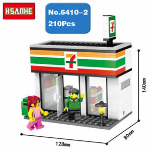 HSANHE Mini Street 7-Eleven Store Shop Figures Nano Blocks Diamond Building Toy
