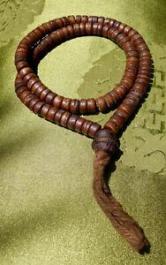 Kleine-schwere-MALA-aus-dunklen-Yak-Knochen-aus-NEPAL-52-cm
