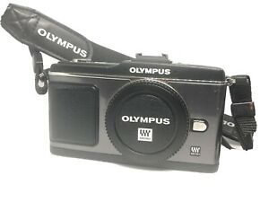 Olympus-PEN-E-P2-12-3MP-Digitalkamera-Schwarz-Nur-Gehaeuse