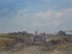 WATERCOLOUR-TO-THE-QUARRY-LISTED-ARTIST-HARRISON-SMYTHE-FREE-SHIPPING-ENGLAND