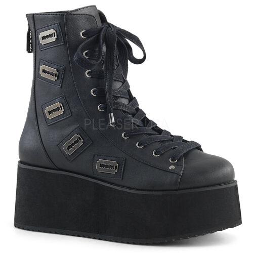 "Demonia 2.75/"" Vegan Platform Razor Blade Charmed Ankle Boots Club Punk 6-11"