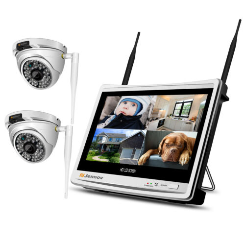 Wireless Security Camera System Outdoor IP WIFI 1080P 12/'/' LCD HD NVR Home CCTV